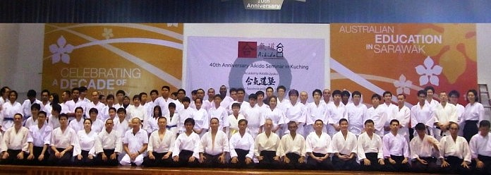 22nd to 23rd October 2011, Jun Yamada Shihan 40th Anniversary Seminar was held at the Swinburne Universtity, Sarawak campus. Kuching was where Jun Yamada Shihan started teaching Aikido in 1971.