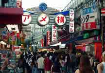 A scene from Ameyoko in Okachimachi, a few stops away from Akihabara on the Yamanote-line.