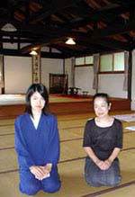 Tomoyo, 2nd daughter and her mother, Mrs Nori Yamada.