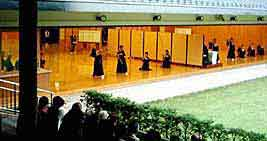Kyu/Yumi Dojo, a part of the Meiji Shrine.